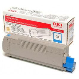 OKI C 5600/5700 C lasertoner – 43381907  – Cyan 2000 sider