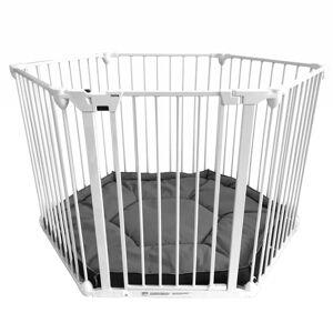 Noma 6-Panel sikkerhedslåge/kravlegård Modular metal hvid 94023