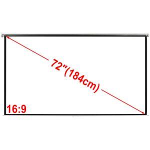 vidaXL Fremskrivning 160x90cm 16: 9-loft / væg