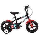 vidaXL børnecykel 12 tommer sort og rød
