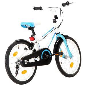vidaXL børnecykel 18 tommer blå og hvid