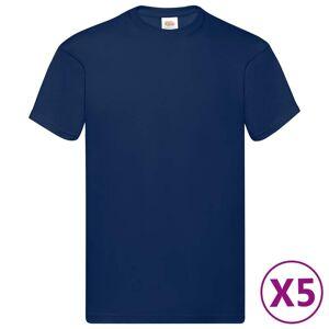 Fruit of the Loom originale T-shirts 5 stk. str. 5XL bomuld marineblå