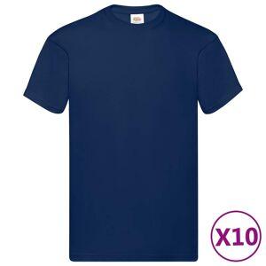 Fruit of the Loom originale T-shirts 10 stk. str. 5XL bomuld marineblå