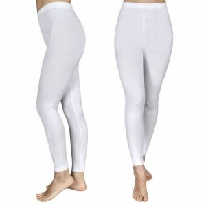vidaXL 2 stk Leggings til piger 134/140, hvide