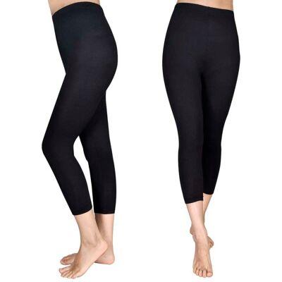 vidaXL 2 stk Capri leggings til piger 110/116, sorte - Børnetøj - vidaXL