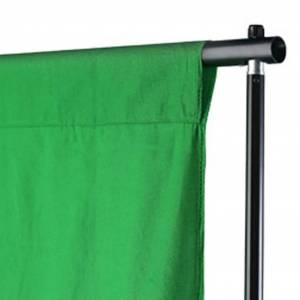 vidaXL fotobaggrund i bomuld grøn 300 x 300 cm chroma key