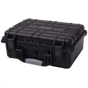 vidaXL sikkerhedskuffert 40,6x33x17,4 cm sort
