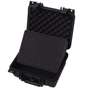 vidaXL sikkerhedskuffert 27x24,6x12,4 cm sort