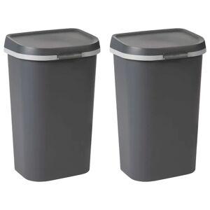 Curver affaldsspande Mistral 2 stk.100 l antracitgrå