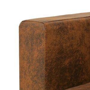 vidaXL lænestol imiteret ruskind brun