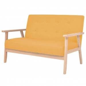 vidaXL 2-personers sofa stof gul