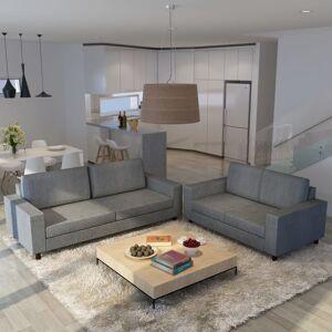 vidaXL 5-personers sofasæt 2 stk. lysegrå stof
