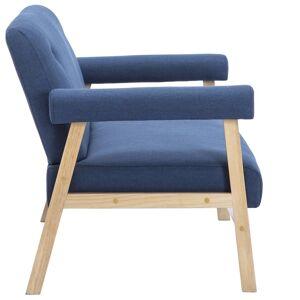 vidaXL topersoners sofa i stof blå