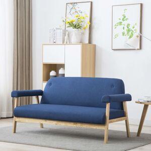 vidaXL trepersoners sofa i stof blå