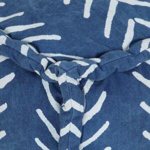 vidaXL kubeformet puffe bomuld med mønster håndlavet 40 x 40 cm indigo