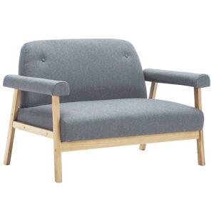 vidaXL 6-personers sofasæt i 3 dele stof lysegrå