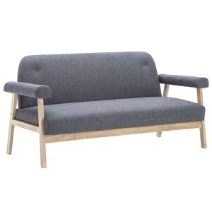 vidaXL 6-personers sofasæt i 3 dele stof mørkegrå
