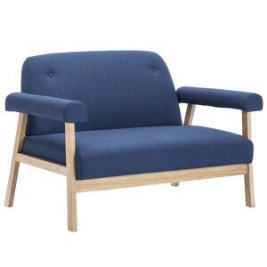 vidaXL 5-personers sofasæt i 2 dele stof blå