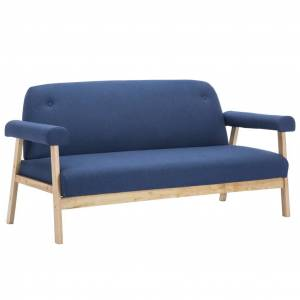 vidaXL 6-personers sofasæt i 3 dele stof blå
