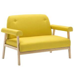 vidaXL 5-personers sofasæt i 2 dele stof gul