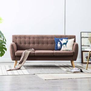 vidaXL 3-personers sofa stofbeklædning 172 x 70 x 82 cm brun