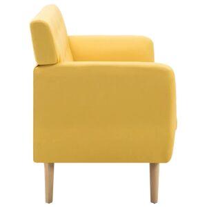 vidaXL 3-personers sofa stofbeklædning 172 x 70 x 82 cm gul