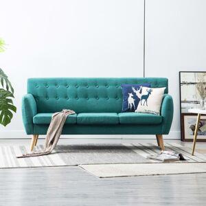vidaXL 3-personers sofa stofbeklædning 172 x 70 x 82 cm grøn