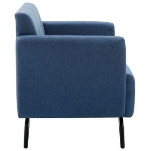 vidaXL 2-personers sofa stofbeklædning 115 x 60 x 67 cm blå