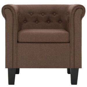 vidaXL lænestol med hynde stof brun