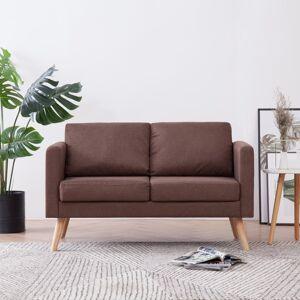 vidaXL 2-personers sofa i stof brun