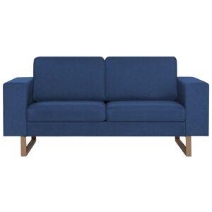 vidaXL 2-personers sofa i stof blå