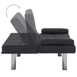 vidaXL sovesofa med to puder polyester mørkegrå