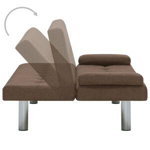 vidaXL sovesofa med to puder polyester brun