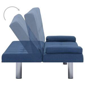 vidaXL sovesofa med to puder polyester blå
