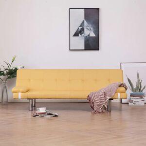 vidaXL sovesofa med to puder polyester gul