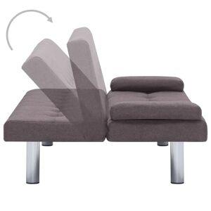 vidaXL sovesofa med to puder polyester gråbrun