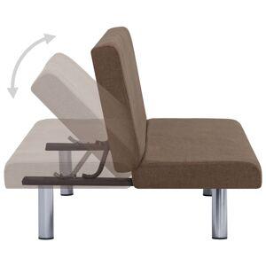 vidaXL sovesofa polyester brun
