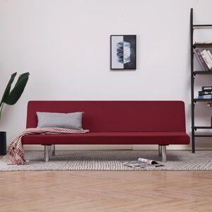 vidaXL sovesofa polyester rødvinsfarvet