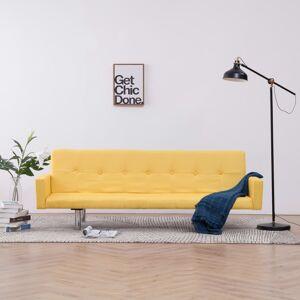 vidaXL sovesofa med armlæn gul polyester