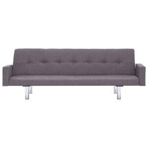 vidaXL sovesofa med armlæn gråbrun polyester