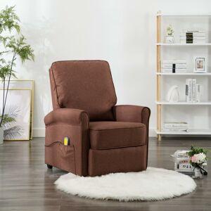 vidaXL elektrisk massagelænestol stof brun