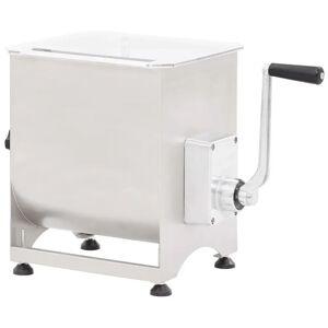 vidaXL kødblander med gearkasse 44 l rustfrit stål sølvfarvet
