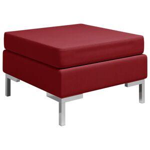 vidaXL fodskammel til sofa med hynde stof vinrød