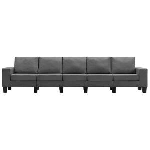 vidaXL 5-personers sofa stof mørkegrå