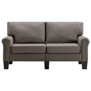 vidaXL 2-personers sofa stof gråbrun
