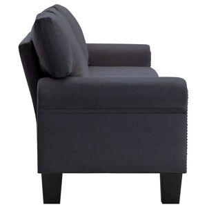 vidaXL 4-personers sofa stof mørkegrå