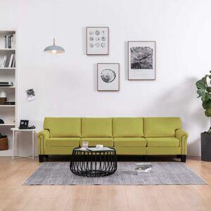 vidaXL 4-personers sofa stof grøn