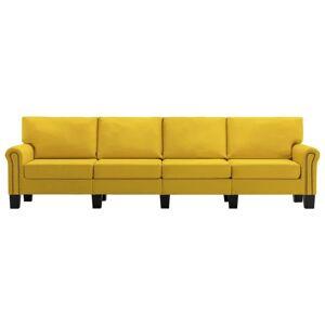 vidaXL 4-personers sofa stof gul