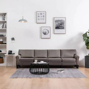 vidaXL 4-personers sofa stof gråbrun