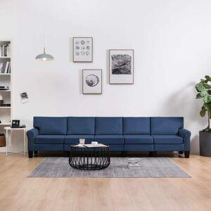 vidaXL 5-personers sofa stof blå